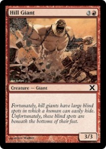 The Hill Giant card from Magic: The Gathering.