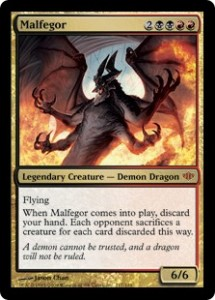 Malfegor, a demon-dragon hybrid in the Magic: The Gathering card game.
