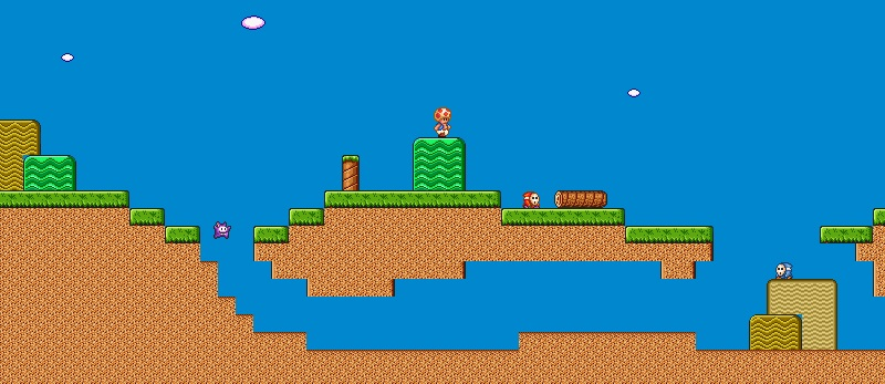 """A screenshot from my """"Toad's Adventure"""" Python game."""